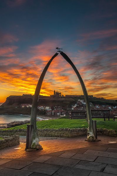 Whitby Sunrise Print by Paul Andrews