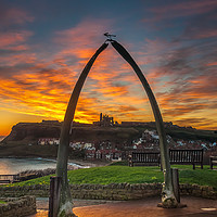 Buy canvas prints of Whitby Sunrise by Paul Andrews