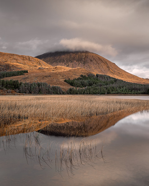 Beinn na Caillich Reflections Canvas print by Paul Andrews