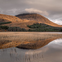 Buy canvas prints of Beinn na Caillich Reflections by Paul Andrews