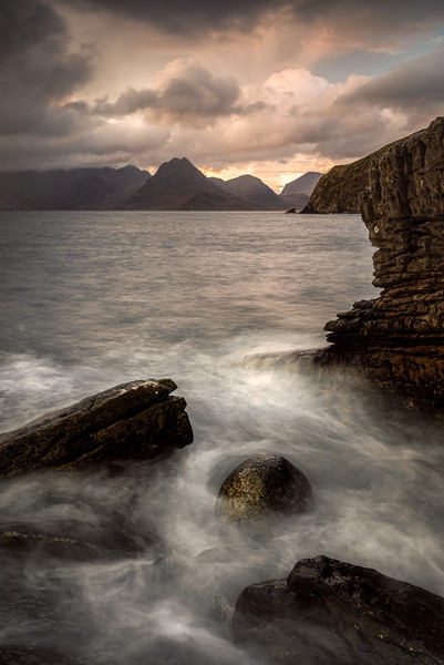 Elgol Sunset Canvas print by Paul Andrews