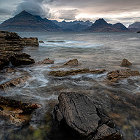 Buy canvas prints of Elgol and the Black Cuillins by Paul Andrews