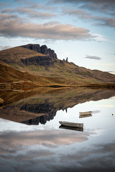 Loch Fada Reflections#3 Canvas print by Paul Andrews