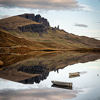 Buy canvas prints of Loch Fada Reflections#3 by Paul Andrews