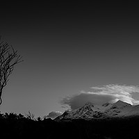 Buy canvas prints of Black Cuillins. by Mark Bowman