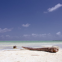 Buy canvas prints of Caribbean Salt Lake, Bonaire by Kasia Design
