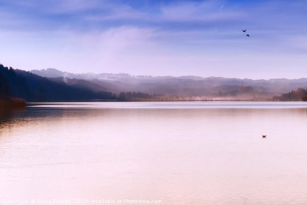Winter Dusk on Lake Staffel Canvas print by Kasia Design