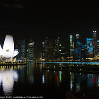Buy canvas prints of The Lotus at Night, Singapore by Kasia Design
