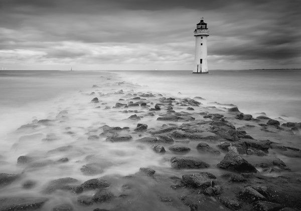 High Tide at Perch Rock Canvas Print by Clive Ashton