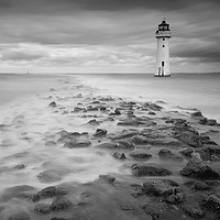 Buy canvas prints of High Tide at Perch Rock by Clive Ashton
