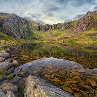 Buy canvas prints of Earlymorning at llyn Idwal by Clive Ashton