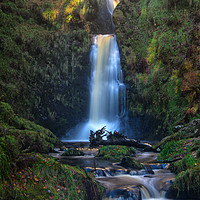 Buy canvas prints of Enchanted Waterfall by Clive Ashton