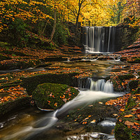 Buy canvas prints of Plas Power Waterfall by Clive Ashton