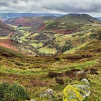 Buy canvas prints of Looking down on the Horseshoe Pass, Llangollen by Clive Ashton
