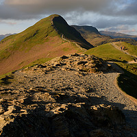 Buy canvas prints of Catbells at dawn                             by Chris Drabble