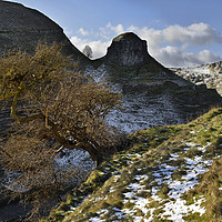 Buy canvas prints of A Winter's day at Peter's Stone                    by Chris Drabble
