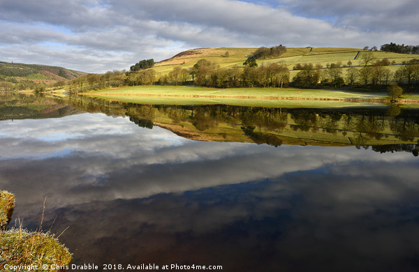 A mirror reflection in Ladybower Reservior        Canvas print by Chris Drabble