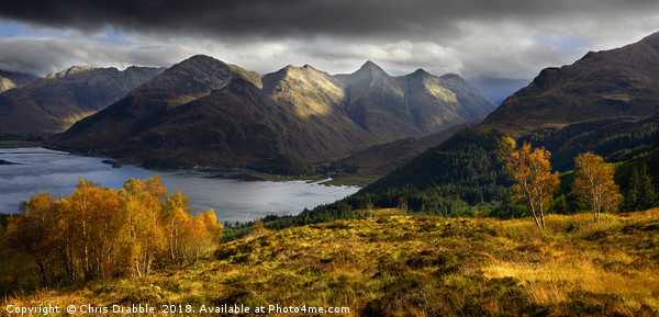 Autumn in Kintail Canvas Print by Chris Drabble
