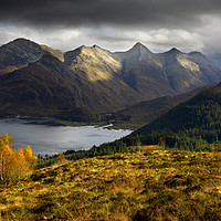 Buy canvas prints of Autumn in Kintail by Chris Drabble