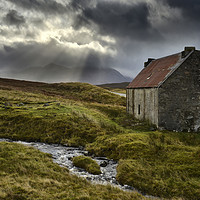 Buy canvas prints of Sun rays over Destitution Road    by Chris Drabble