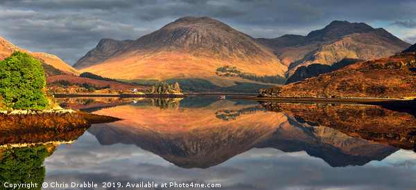 Loch Long Reflections Framed Mounted Print by Chris Drabble