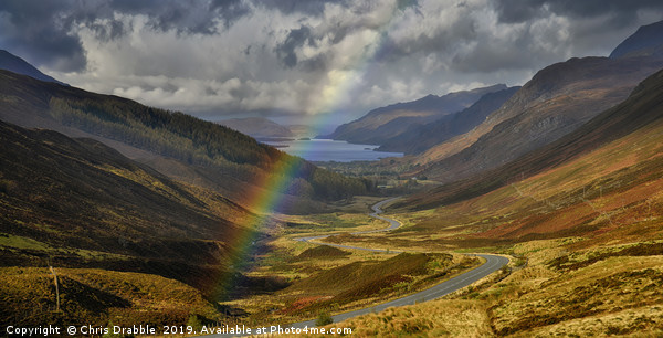 Rainbow over Loch Maree Framed Mounted Print by Chris Drabble