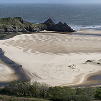 Buy canvas prints of Three Cliffs Bay, the Gower Peninsula by Chris Drabble