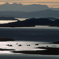 Buy canvas prints of Winter sunset light over the Summer Isles by Chris Drabble