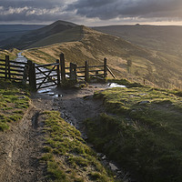 Buy canvas prints of The Peakland Ridge at Dawn, Castleton, Derbyshire by Chris Drabble