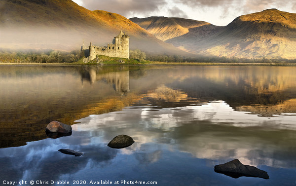 Kilchurn Castle at dawn Framed Mounted Print by Chris Drabble