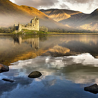 Buy canvas prints of Kilchurn Castle at dawn by Chris Drabble