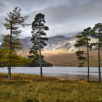 Buy canvas prints of Beinn Eighe from Loch Clair                        by Chris Drabble