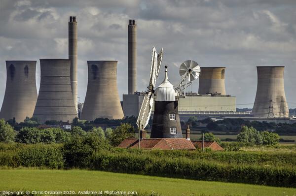 Leverton Windmill Print by Chris Drabble