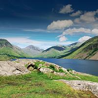 Buy canvas prints of Wast Water, Lake District by Tristan Wedgbury