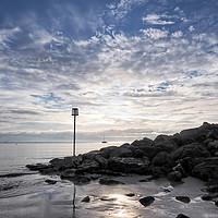 Buy canvas prints of Lyme Regis Seascape - Toned by Susie Peek