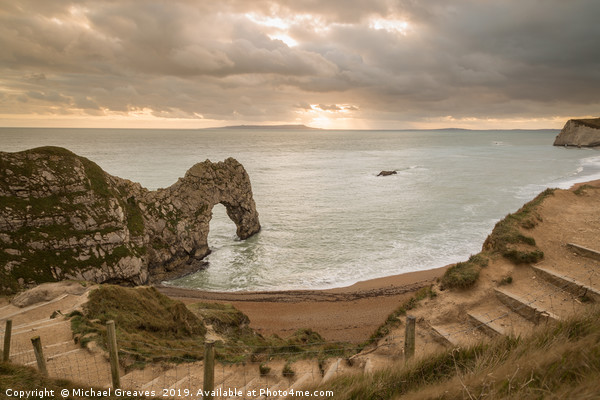 Durdle Door Canvas Print by Michael Greaves