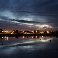 Buy canvas prints of Burry Port Harbour By Night by Chris Williams