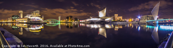 Salford Quays, Lowry, Imperial War Museum Panorama Canvas print by Ian Haworth