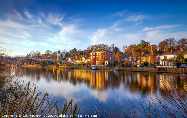Winter Sunset Over The River Dee Chester Canvas print by Ian Haworth