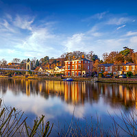 Buy canvas prints of Winter Sunset Over The River Dee Chester by Ian Haworth