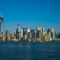 Buy canvas prints of Manhattan view from Hudson by Gaukhar Yerkimbekova