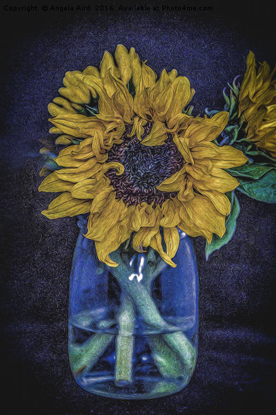 Sunflower Canvas print by Angela Aird