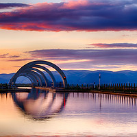 Buy canvas prints of Falkirk Wheel by Natasha Naylor
