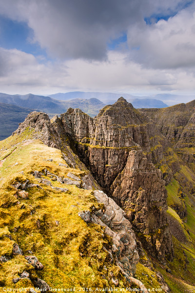 The Pinnacle Ridge Of Liathach Canvas print by Mark Greenwood