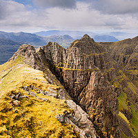 Buy canvas prints of The Pinnacle Ridge Of Liathach by Mark Greenwood