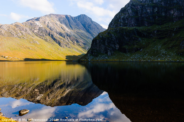 Colours In The Black Loch Canvas print by Mark Greenwood