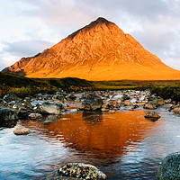 Buy canvas prints of Stob Dearg at Sunrise by Mark Greenwood