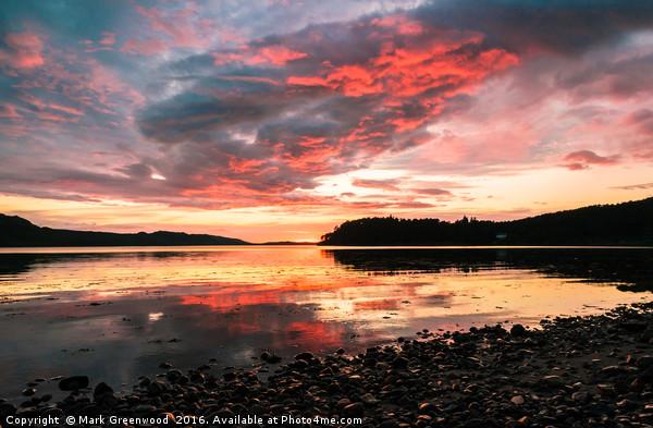 Loch Ewe Sunset Canvas print by Mark Greenwood
