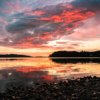 Buy canvas prints of Loch Ewe Sunset by Mark Greenwood