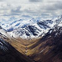 Buy canvas prints of Glen Coe Snow by Mark Greenwood
